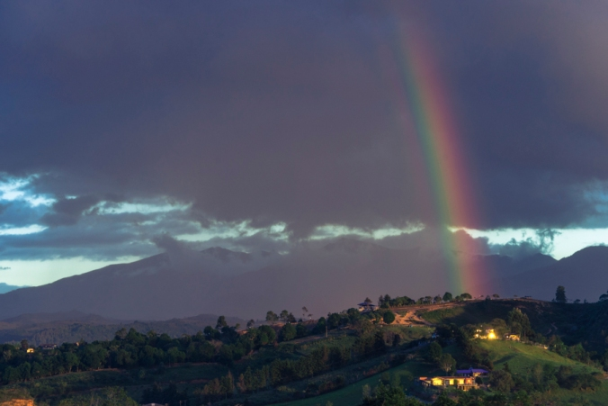 Rainbow in the Andes - © L.A. Cuellar, All Rights Reserved.