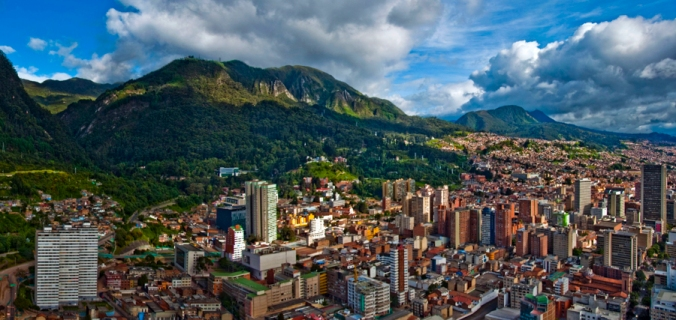 Panoramic picture of Bogota