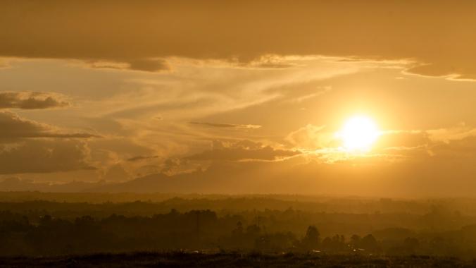 Sunset in Popayan