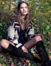 Jacket: Vintage Boots: Prada Top: H&M