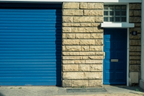 Blue entrances