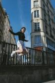 Street at Strasbourg St-Dennis on the movie Une Femme est une Femme by Godard. © L.A. Cuellar, All Rights Reserved.